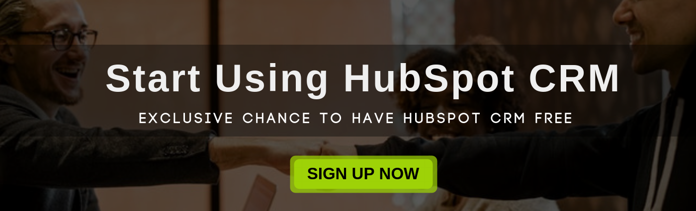 Start using HubSpot CRM for FREE